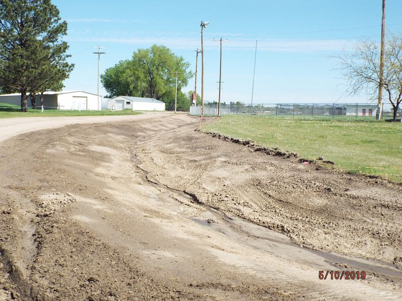 drainage ditch by ballfield